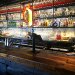 El Grotto - drinks shelving black powdercoated