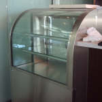 Glass & Stainless Steel Cake Display
