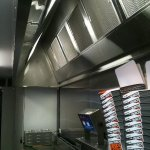 Stainless Steel Canopy & Walls - Burger Edge Harbour Town