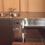 Stainless Steel Integrated Sink & Fridge
