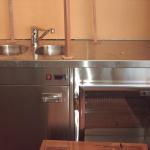 Stainless Steel Integrated Sink & Fridge
