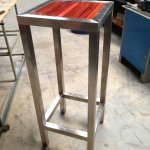 Stainless Steel & Wood Bar Stool