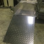 Aluminium Chequerplate Trailer