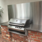 Stainless Steel BBQ bench & splashback - Kensington