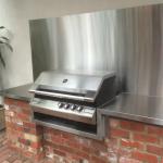 Stainless Steel BBQ bench & splashback - Kensington