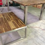 Table frame stainless steel legs