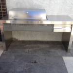 Outdoor BBQ and Bench
