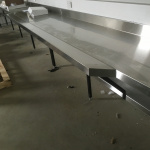 Stainless Steel Bench Extensions - Peron Trade Training Centre