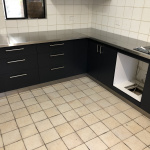 Stainless Steel L shape Benchtop - Canningvale
