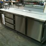 Stainless Steel Salad Prep and Fridge Unit