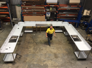 cool steel fabrication workroom